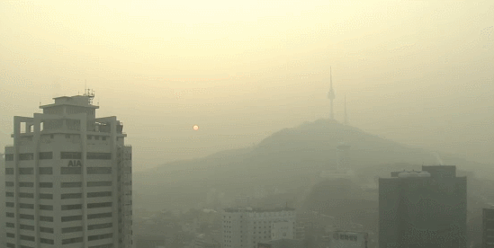韩国接连雾霾四起
